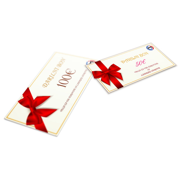 Gift card 1/3 A4 double sided
