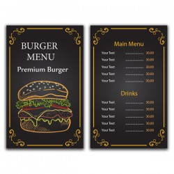 Price list two sided A5