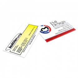 Business cards double sided laminated