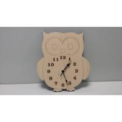wooden clock - owl
