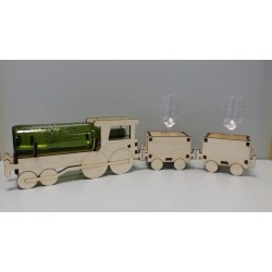 Wine bottle stand - Train