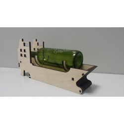 Wine bottle stand - Ship